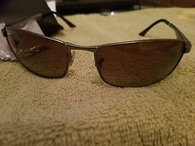 e7969d26bb Ray-Ban Men s Metal Man Sunglass 0RB3498 Polarized Rectangular Sunglasses