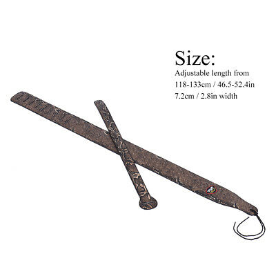 Adjustable Snakeskin PU Leather Strap for Acoustic Electric Guitar Bass W7Q4