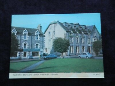 Vintage Scottish Postcard of Post Office Stores and Gordon Arms Hotel, Tomintoul