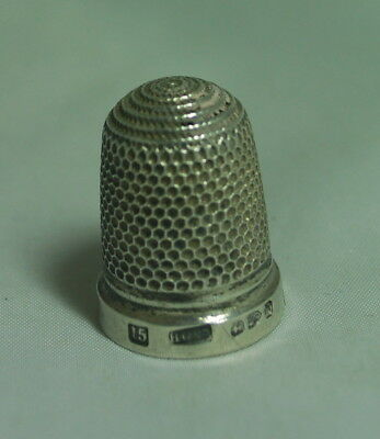 Victorian Silver Thimble HG & S Chester 1894 Size 15 AF A602017