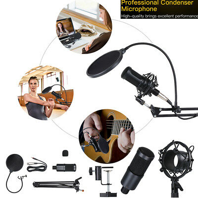 Microphone Podcast Recording Condenser Studio Professional with Shock Mount K5Z7
