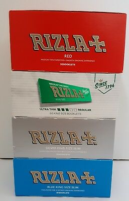Rizla Red / Green / Silver / Blue King Size (1-50 Booklets)
