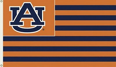 AUBURN TIGERS STRIPES Nation 3x5 Flag w/grommets Outdoor
