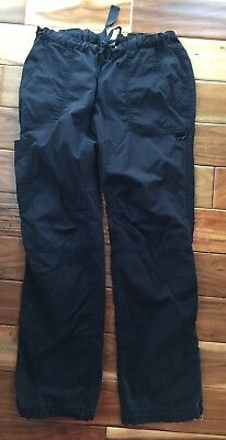 Koi Kathy Peterson women's large Tall scrub pants cargo lindsey 701T  black