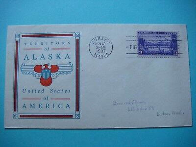 Alaska 11-12-1937 -  Territory of Alaska  - First day of issue lot#384