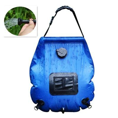 Solar Shower Camping Shower Shower Bag with Shower Head Portable Ca O8