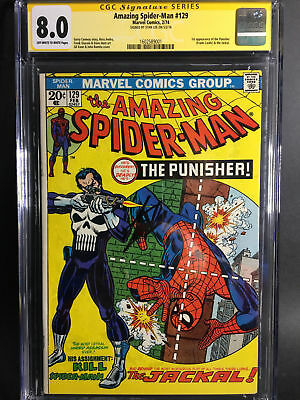 Amazing Spider-Man #129 CGC SS 8.0 ( STAN LEE SIGNED ) 1st Appearance Punisher