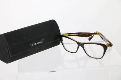 Dolce & Gabbana Brown Glitter Cat Eye Lens Glasses