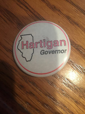 Hartigan for Governor of Illinois button pinback