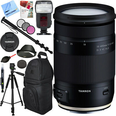 Tamron 18-400mm f/3.5-6.3 Di II VC HLD Zoom Lens for Canon Mount Accessories Kit