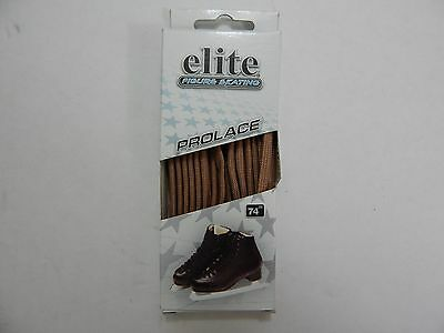 "Brand New: Elite Figure Skating Prolace Molded Tip Laces 74"" Length -Light Brown"