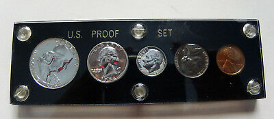1958 Proof Set Blazing Mirror Sufaces In Capital Holder
