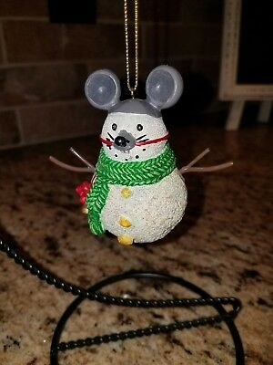 Rat Mouse Snowman Christmas Holiday Ornament