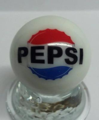 "Nice Pepsi Cola Collectible Glass 1"" Logo Marble # 7"