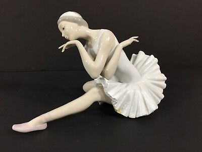 Vintage Lladro #4855 Death of A Swan Ballerina Retired Porcelain Figurine 10""