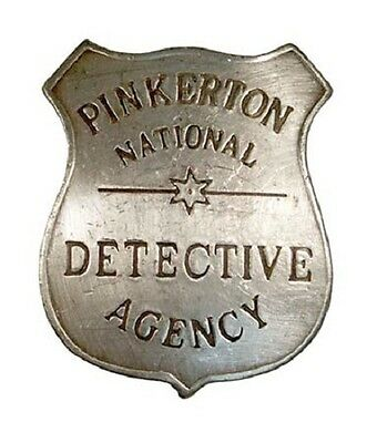 Pinkerton National Detective Agency Badge Reproduction New