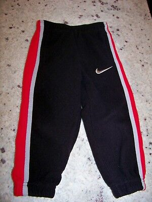 Nike 2T Toddler Boy Fleece Track Pants Black Red