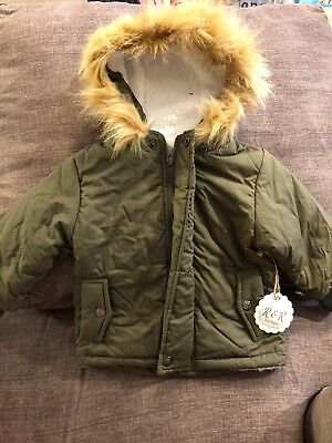 New Girl Boy Toddler 2T Winter Coat Jacket Olive Green Unisex