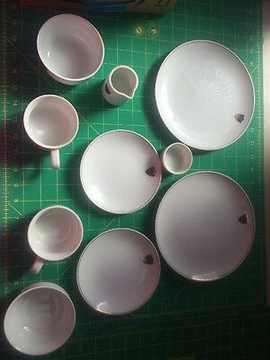 Western Airlines ABCO Dishes Bowls Plates Cups Creamer Butter Japan Tableware