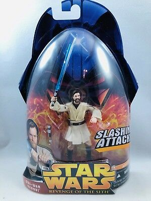 Star Wars Revenge of the Sith Obi-Wan Kenobi Slashing Attack Action Figure