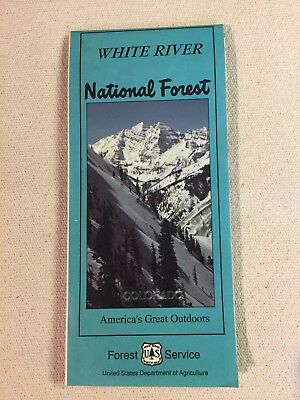 USDA Forest Service map WHITE RIVER National Forest Colorado 1990