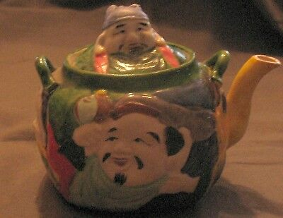 1930's Banko Ware Faces Japanese Teapot