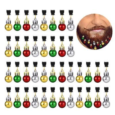 Christmas Beard Hanging Ornaments - Beard Baubles - (Pack of 12) with MINI-CLIPS