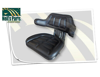 W222 Tractor Seat with Base Black Universal Fit 120kg Max