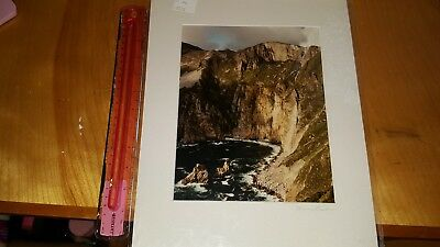 Marcus Fisher Signed 1993 Photograph Ireland Slieve League Cliffs Carrick Irelan