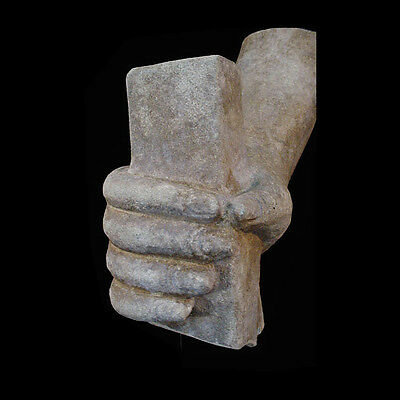 Khmer sandstone statue portion hand clenching x5520