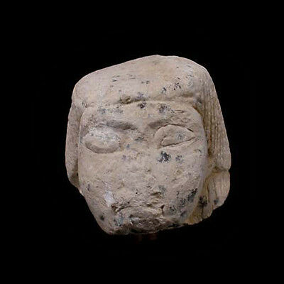 A limestone canopic jar lid in the form of Imsety, New Kingdom,1550-1070 - 00914