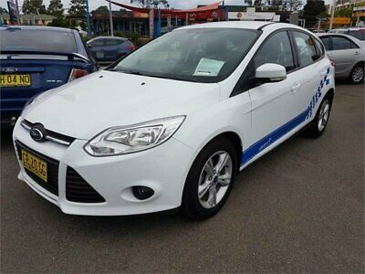 2014 Ford Focus LW MKII Trend PwrShift White Automatic 6sp A Hatchback