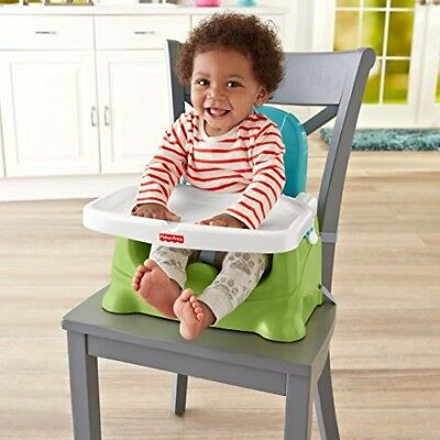 Fisher-Price Healthy Care Booster Seat, Green/Blue NEW