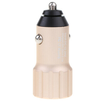 Mini Car Charger 5V 3.1A Quick Charge Dual USB Port Breathing Light Adapter