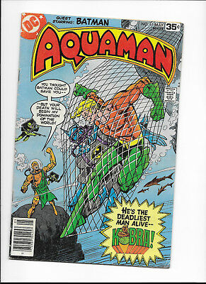 """Aquaman #61 {May 1978 Dc} Bronze Age! F- The Deadly """"kobra""""! Solid Copy!"""