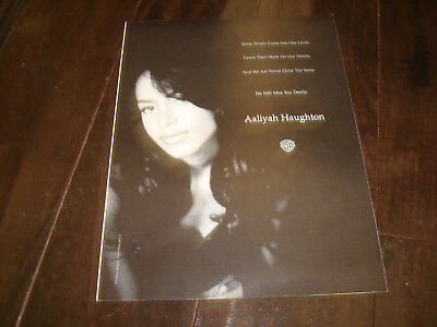 "AALIYAH HAUGHTON 2001 tribute ad with ""We Will Miss You Dearly"""