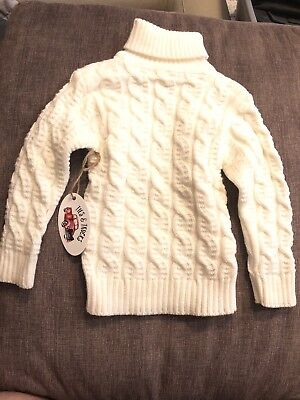 New Girl Boy Toddler 24 Months Winter Sweater Warm Soft Unisex  White Cream