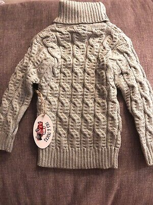 New Girl Boy Toddler 12 Months Winter Sweater Warm Soft Unisex  Grey Gray Slate