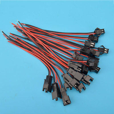 10Pairs RC Female Male SM Plug 2Pin Battery Connector Cable with 20AWG 10cm Wire