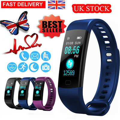 Smart Watch Blood Pressure Heart Rate Monitor Sport Bracelet Fitness Tracker UK