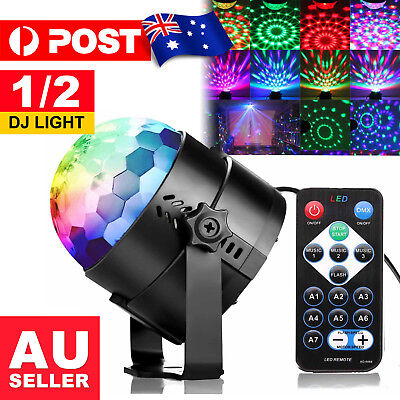 Disco Party DJ LED RGB Stage Effect Light Lamp Laser Crystal Magic Ball Xmas AU