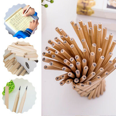 10x Natural Wooden Lead HB Pencils Write Art Drawing Student Stationery Supplies