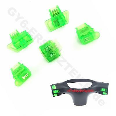 SCHALTER SET 5-teilig in GRÜN z.B. CHINA ROLLER ATV QUAD REX RS460 QINGQI REXY