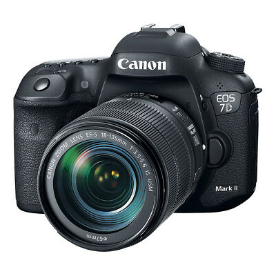 NEW Canon EOS 7D Mark II DSLR Camera with EF-S 18-135mm f/3.5-5.6 IS USM Lens