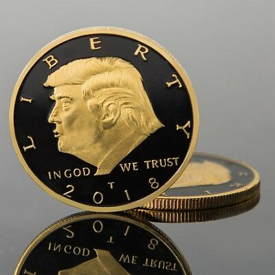 2018 President Donald Trump  Gold Plated EAGLE Commemorative Coin Gold