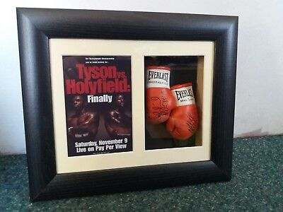 Mike Tyson Vs Evander Holyfield Mini Signed Boxing Gloves