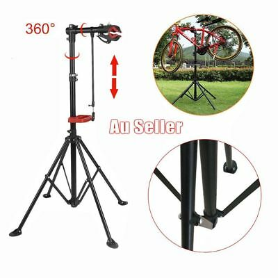 Bike Repair Work Stand New With Bonus Tool Tray For Home Bicycle Mechanic L SY