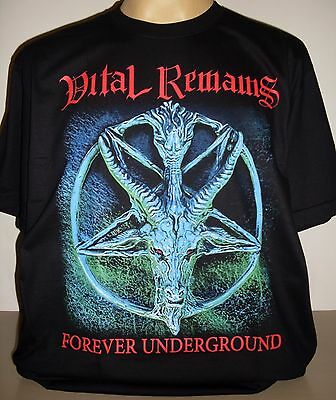 Vital Remains Forever Underground T-Shirt Size S M L XL 2XL 3XL Death Metal Band
