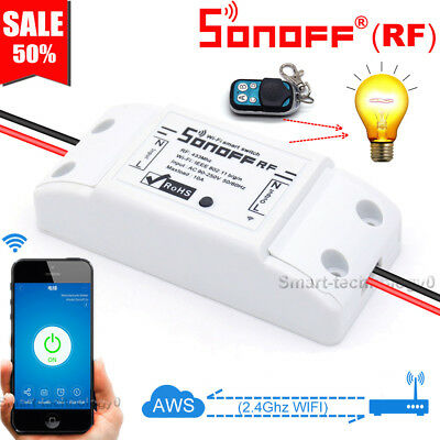 Sonoff RF 433MHZ Remote WiFi Wireless Smart Switch ModuleTimer Caller APP Ctrl