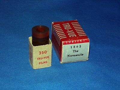 Vtg 1941 SS NORMANDIE French Ocean Liner Tru-Vue 3D Stereoview 1803 Stereo Photo